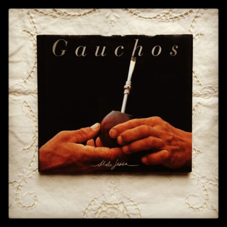 Photo of a book for sale titled Gauchos. About South American cowboys. Photograph illustrated.
