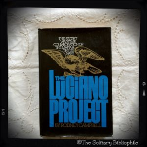 Photo of a book for sale titled The Luciano Project: The Secret Wartime Collaboration of the Mafia and the U.S. Navy